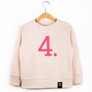 The Number 4 pink sweatshirt