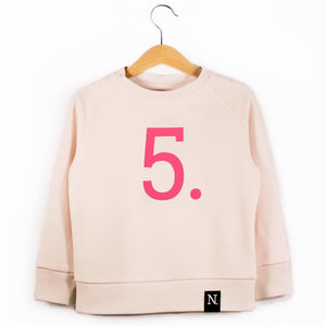 The Number 5 pink sweatshirt