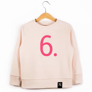 The Number 6 pink sweatshirt