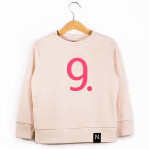 The Number 9 pink sweatshirt