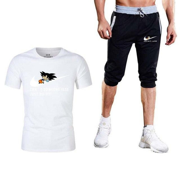 Dragon Ball Two Piece Goku T-shirt+shorts-Animerevolt