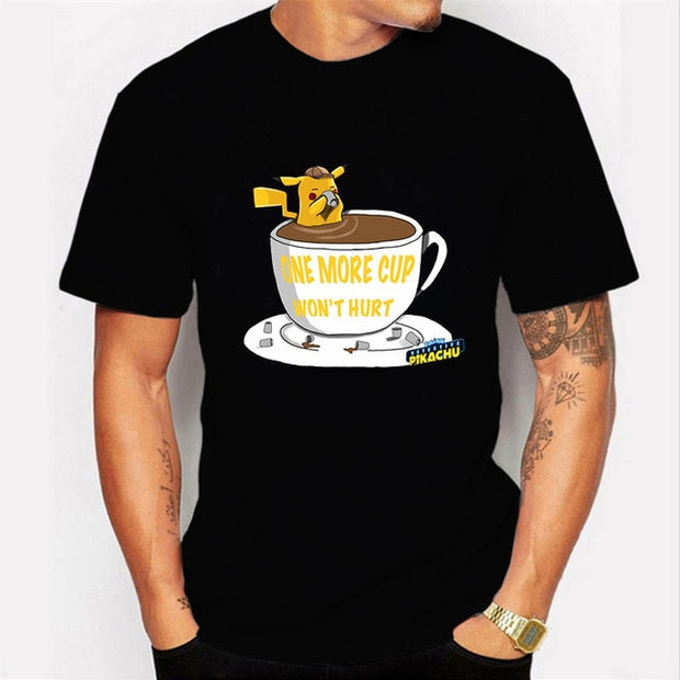 NO COFFEE NO WORKEE PIKACHU POKEMON Tshirt