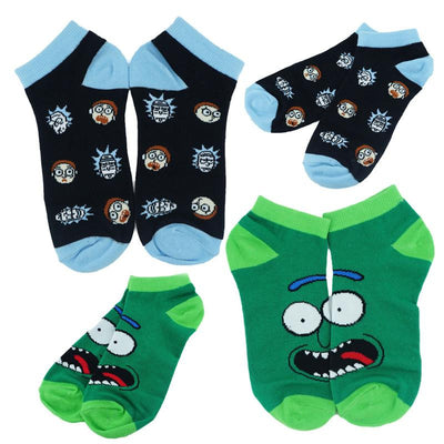 Rick and Morty Pickle Colorful Short Socks-Animerevolt