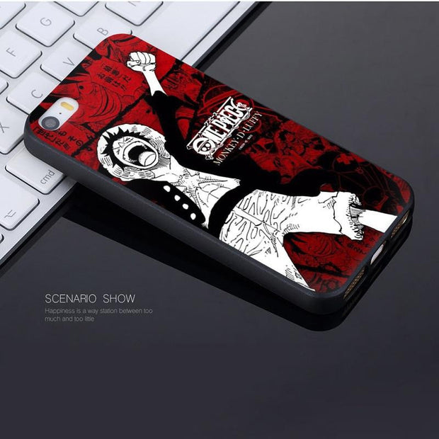 one piece luffy Coque Shell Phone Case for iPhone-Animerevolt
