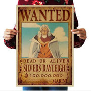 Home Decor Wall Stickers One Piece Wanted posters-Animerevolt
