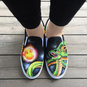 Anime Dragon Ball Green Shenron Hand Painted Shoes-Animerevolt