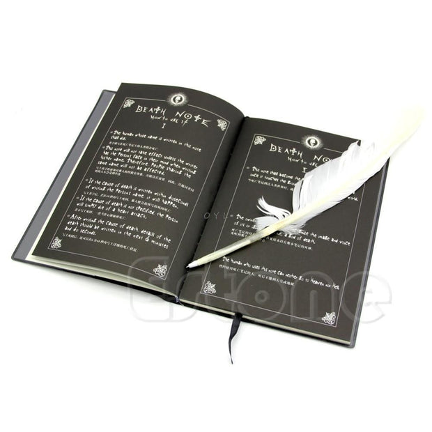 New Death Note Cosplay Notebook & Feather Pen Book Animation Art Writing Journal-Animerevolt