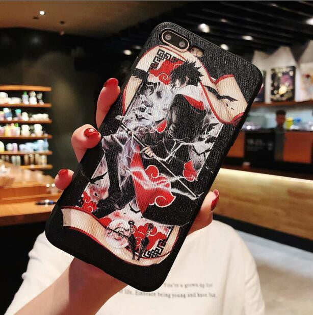 iPhone phone case Naruto relief soft back cover Coque-Animerevolt