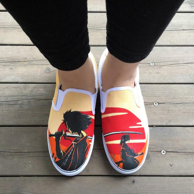 Samurai Champloo Hand Painted Shoes-Animerevolt