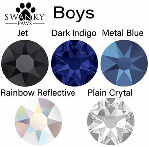 Boys Colour Chart For Swarovski Crystal Flatback Dog Collars