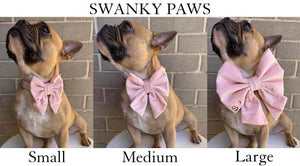Sizing Guide for Swanky Paws Dog Fashion Bows Pink Velvet