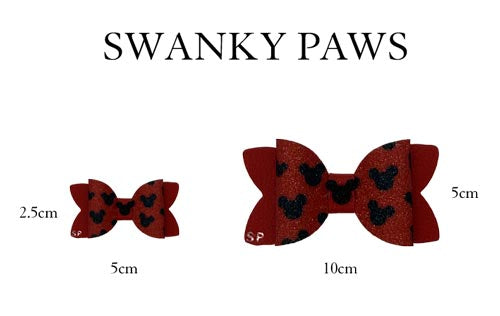 Minnie Hair Bow Sizes Red