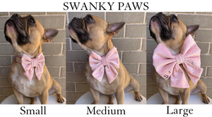 Sizing guide for dog bow ties pink sailor velvet dog bow swanky paws