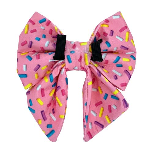Fun Dog Bow Sailor With Sprinkles Back Side with Elastic Swanky Paws