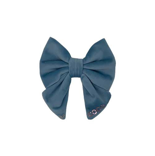 Blue Dog Bow Tie Sailor Personalised with Name