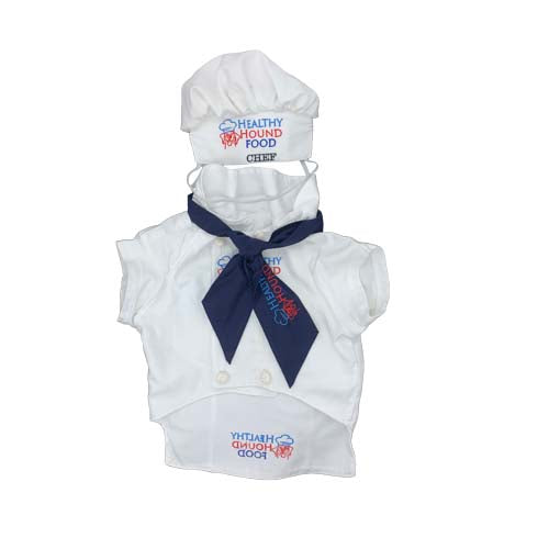Complete Dog Chef Jacket Outfit Costume Aus