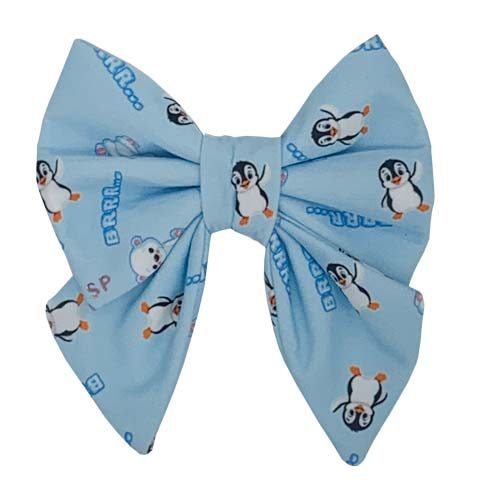 Blue Winter Sailor Bow