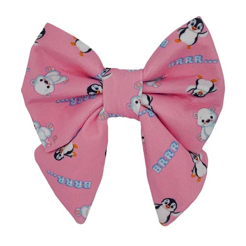 Luxury Pink Dog Sailor Bow Winter Australia