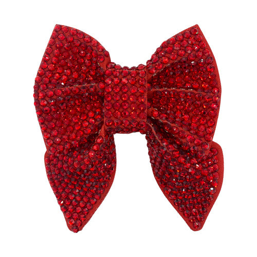 Red Swaarovski Crystal covered dog sailor bow tie 100% covered in crystals for dog bling