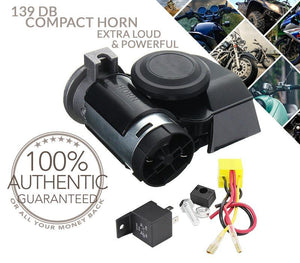 【EASY AND FAST TO INSTALL】-139 DB DUAL TONE COMPACT HORN