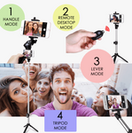 4 in 1 Mini Selfie Stick with Remote