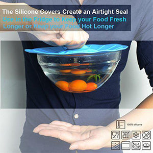 (Free Shipping Today)Tempting Silicone Bowl Covers (5 pcs)