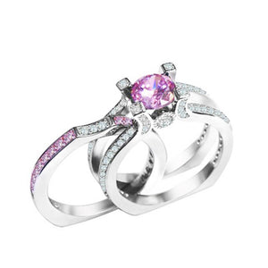 【 50% OFF HOT SALE】Beautiful 2-in-1 Birthstone Ring Set-BUY 1 & GET 1 FREE TODAY!