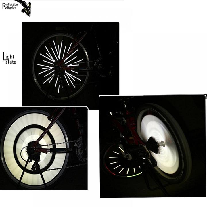 BICYCLE WHEEL SPOKE REFLECTOR – FITS ALL STANDARD SPOKED WHEELS(12PCS)