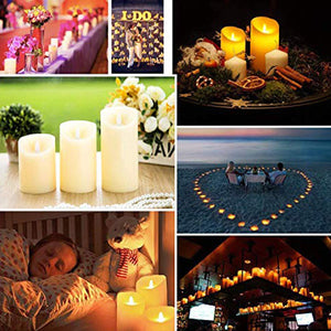 Remote Control LED Ivory Color Pillar Candles with Timer