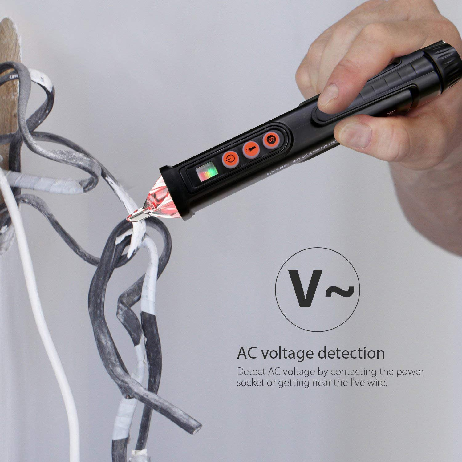 Hot Sale-AC/DC Voltage Test Pencil, 12V/48V-1000V Voltage Sensitivity Electric Compact Pen