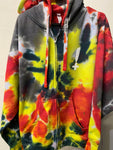 Stay Hella Positive Tie Dye Zip-Up Hoodie - XL