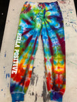 Hella Positive Tie Dye Joggers - Small