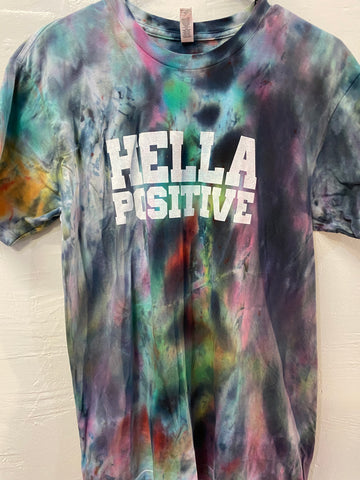 Hella Positive Tie Dye T-Shirt - Medium