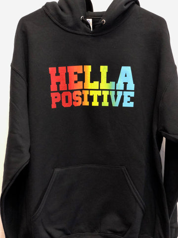 Hella Positive Red/Yellow/Blue Hoodie