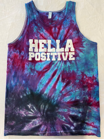 Hella Positive Tie Dye Tank Top - Medium
