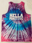 Hella Positive Tie Dye Tank Top - Large