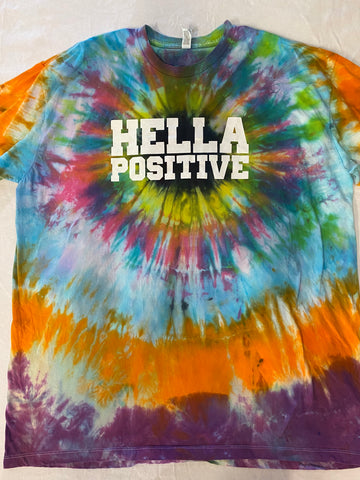 Hella Positive Tie Dye T-Shirt - 2XL