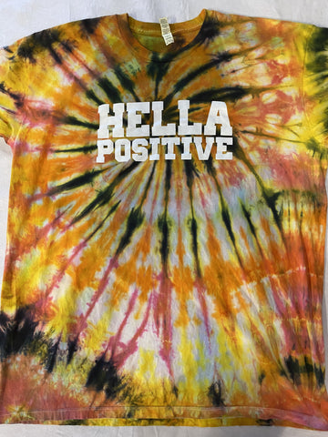 Hella Positive Tie Dye T-Shirt - XL