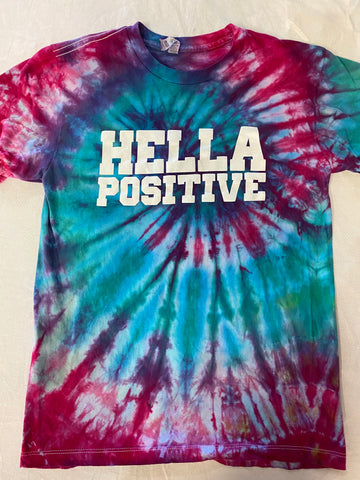Hella Positive Tie Dye T-Shirt - Small