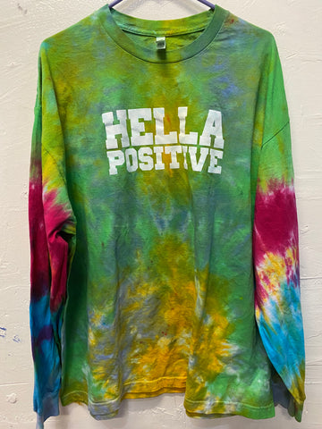 Hella Positive Tie Dye Long Sleeve - 2XL