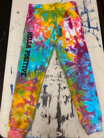 Hella Positive Tie Dye Jogger Sweatpants - Medium
