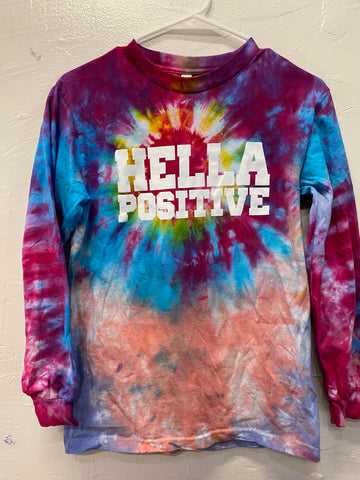 Hella Positive Tie Dye Long Sleeve - Small