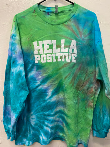 Hella Positive Tie Dye Long Sleeve - XL