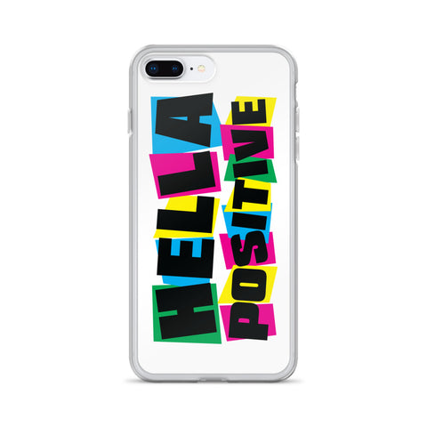 Hella Positive Colors iPhone Case - White