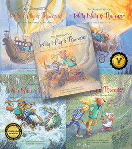 "Complete 5 Book Set of ""The Adventures of Willy Nilly & Thumper"" series"