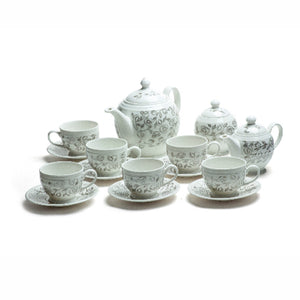 PORCELAIN COMPLETE TEA SET - Mayukh