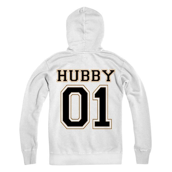 Personalised Number Hubby Hoodie Adults