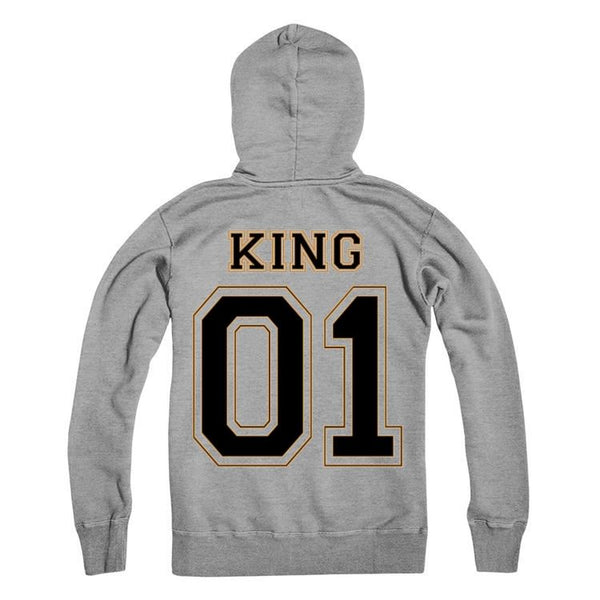 King Personalised Number Hoodie Adults
