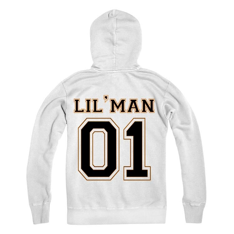 LIL'MAN Personalised Number Hoodie Kids And Adults