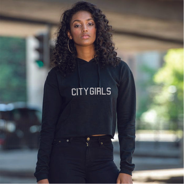 City Girls - Act Up  Girlie cropped hoodie - pure-cotton-shop